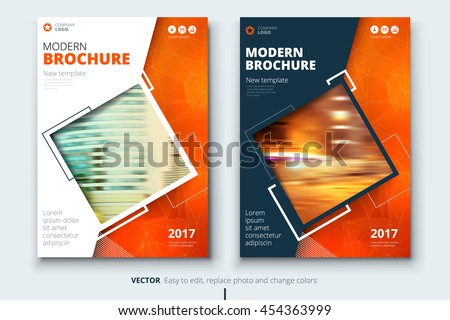 Orange cover design annual report catalog stock vector for Latex book cover template