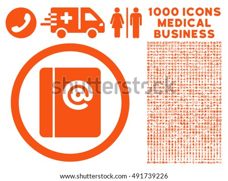 orange emails vector rounded icon image stock vector 491739226