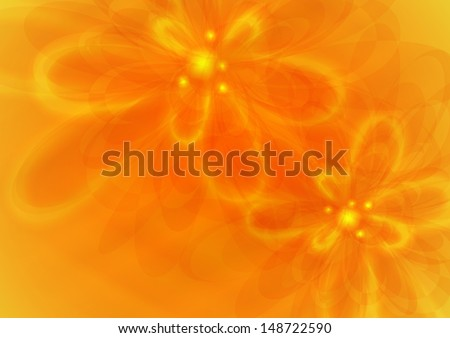 Orange flower background.  Vector illustration. Eps 10. - stock vector