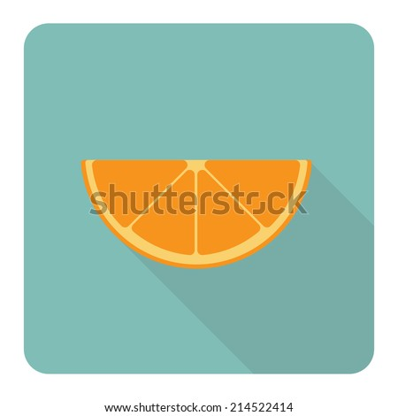 Orange fruit. Vector illustration.