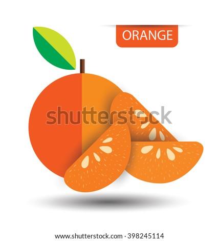 Orange, fruit vector illustration - stock vector