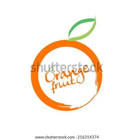 Orange fruits vector - stock vector
