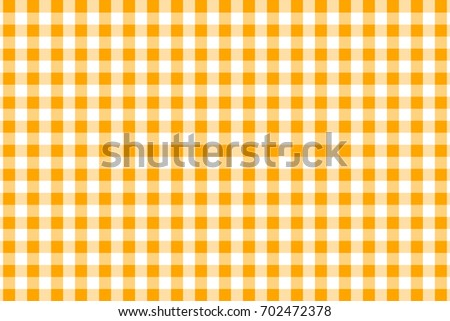 Orange Gingham Pattern. Texture From Rhombus/squares For   Plaid,  Tablecloths, Clothes