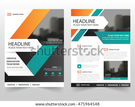 Blue Cover Design Annual Report Template Stock Vector 439995658