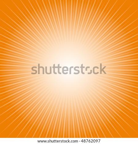 Orange heaven blast - stock vector