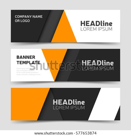orange triangle abstract corporate business banner stock vector 443265112 shutterstock. Black Bedroom Furniture Sets. Home Design Ideas
