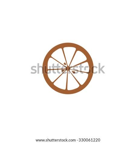 Orange icon. - stock vector