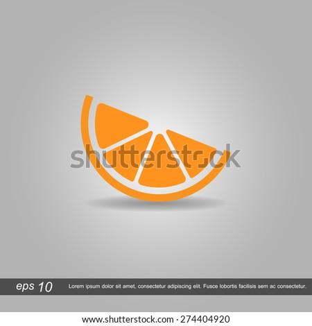 orange icon vector illustration eps10 on grey background - stock vector