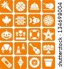 Orange icons - stock vector