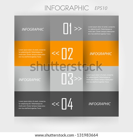 orange infographic. modern infographic concept. - stock vector