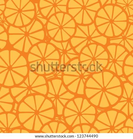 orange juice pattern, orange - stock vector