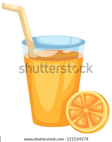 Orange juice vector - stock vector