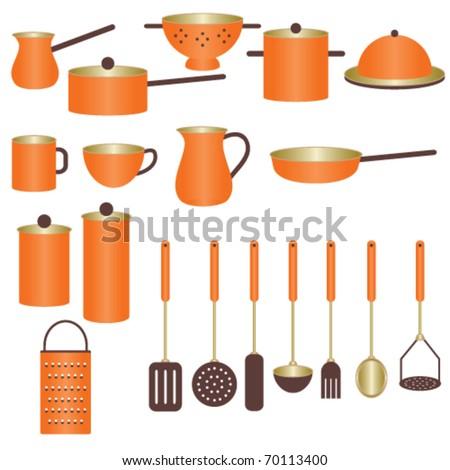 Beau Orange Kitchen Utensils