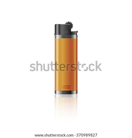Orange lighter isolated on background
