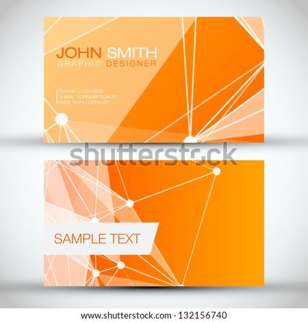 Orange Modern Abstract Business - Card Set | EPS10 Vector Design - stock vector