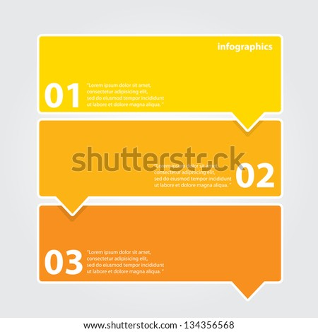 Orange modern Design template / can be used for infographics / numbered banners / horizontal cutout lines / graphic or website layout vector