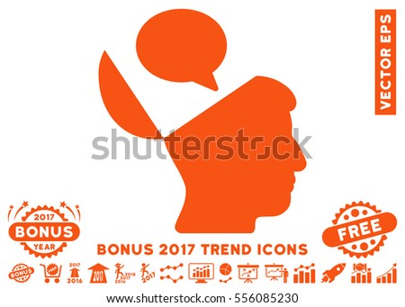 Orange Open Mind Opinion Pictogram Bonus Stock Vector 556085230 ...