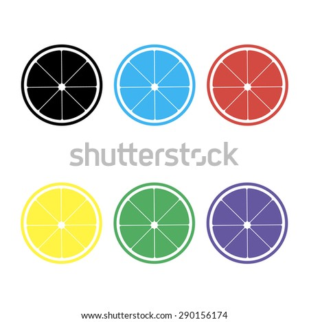 orange or lemon slice vector icon
