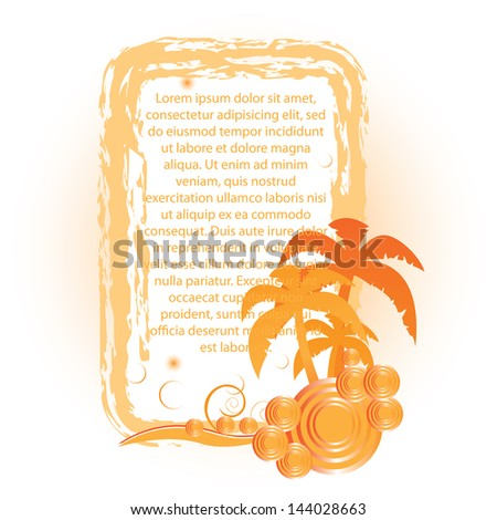orange palms beautiful summer background
