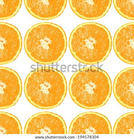orange pattern - stock vector