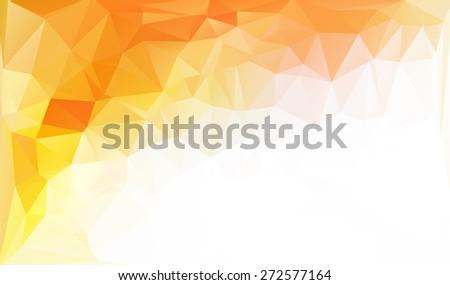 Orange Polygonal Mosaic Background, Creative Design Templates - stock vector