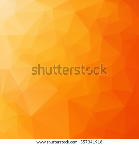 Orange Polygonal Mosaic Background, Creative Design Templates