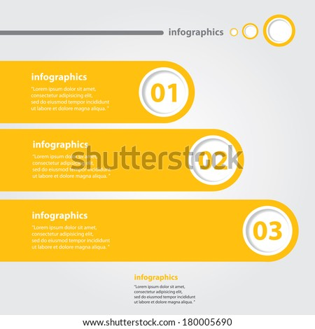orange progress paper banners / can be used for infographics / numbered banners / horizontal cutout lines / graphic or website layout vector - stock vector