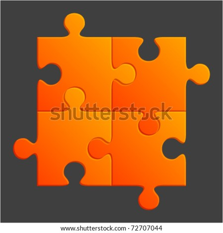 Orange puzzle vector illustration.  Eps 10. - stock vector