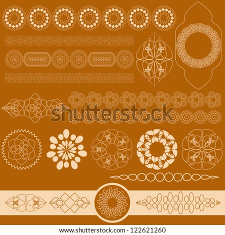 Orange Religious Islamic Background. Jpeg Version Also Available In Gallery. - stock vector