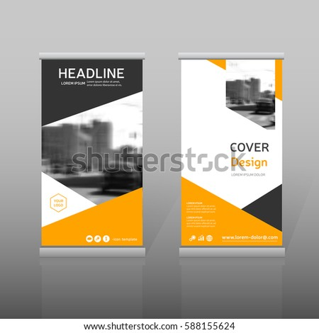 Orange Vector Leaflet Brochure Flyer Template Vector – Advertising Brochure Template