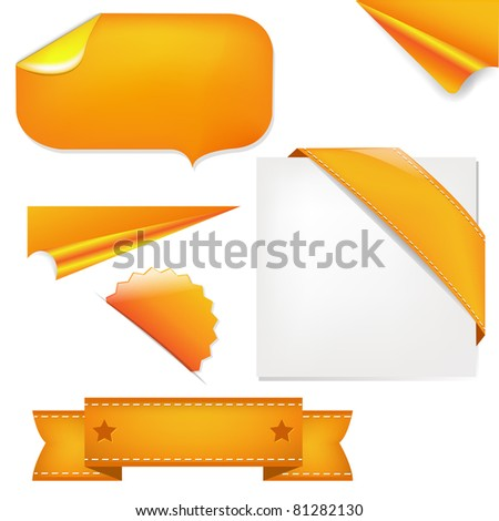 Orange Set - stock vector