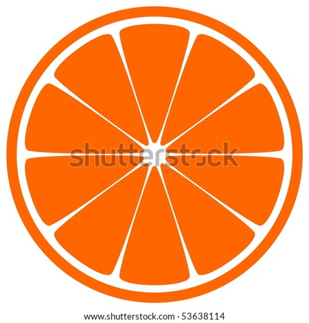 Orange Slice - stock vector