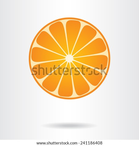 Orange slice. Vector illustration. - stock vector