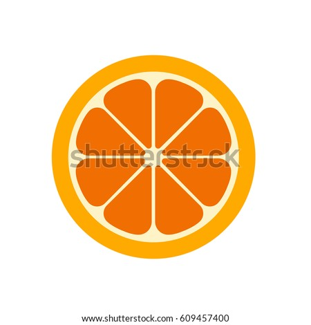 Orange slice vector illustration.