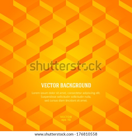 Orange steps up to success. Abstract business cover design elements, yellow textured background and place for your text isolated. Vector illustration eps 10. Gorgeous graphic image background web page - stock vector