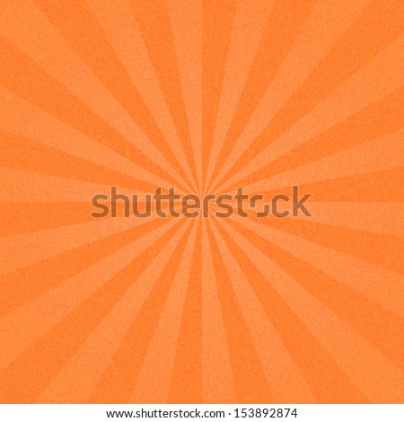 Orange sunburst blank background. Sunbeam with noise effect texture. Empty retro empty vintage abstract backdrop. Template swatch in square format. Vector illustration design element 10 eps - stock vector