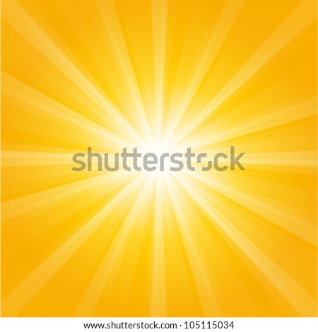 orange sunburst summer holiday background - stock vector