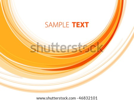 Orange template. Vector - stock vector