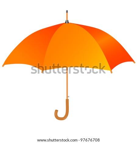 Orange umbrella icon - stock vector