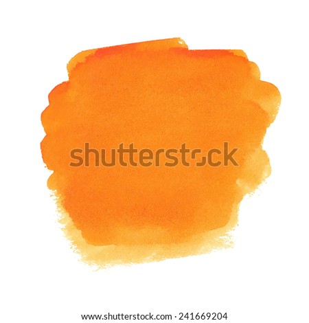 Orange watercolor spot