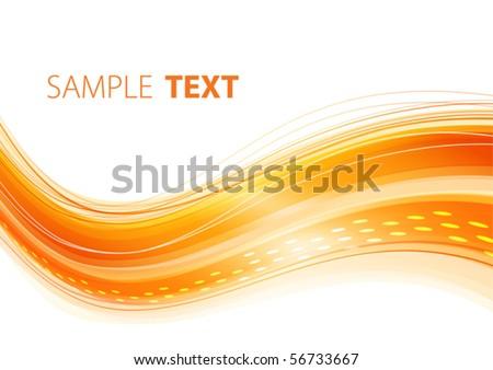 Orange wavy template. Vector - stock vector