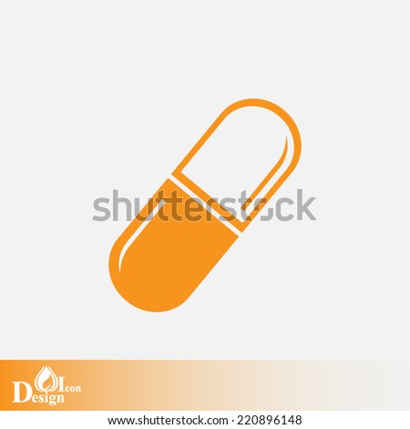 Orange web icon on a gray background - stock vector