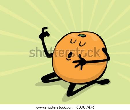 orange with attitude. - stock vector