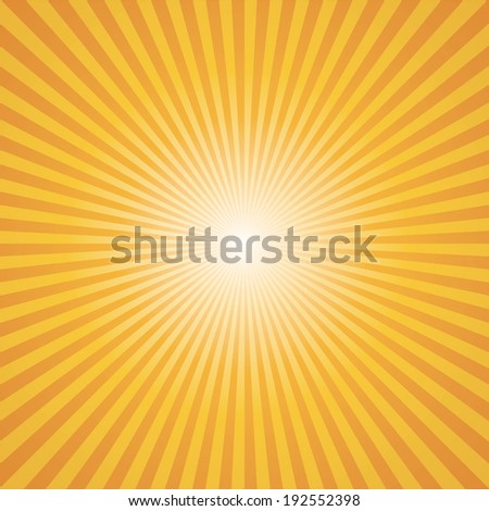 orange-yellow color burst background. Vector illustration - stock vector