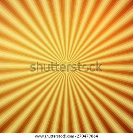 Orange, yellow shiny backgrounds for design. Abstract retro vintage background of the shining sun rays. Sun. Sunburst, light ray, sunset vector illustration. - stock vector