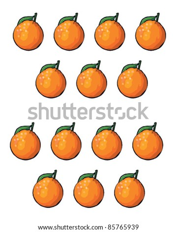 Oranges isolated - stock vector