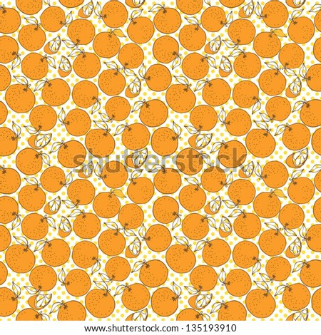 Oranges vector pattern - stock vector