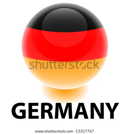 Orb Germany Flag - stock vector
