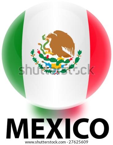 Orb Mexico Flag - stock vector