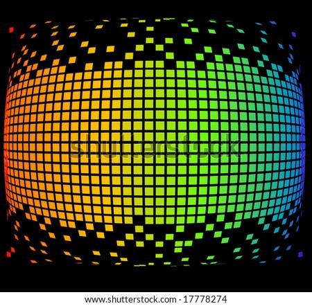 orb pixels - stock vector